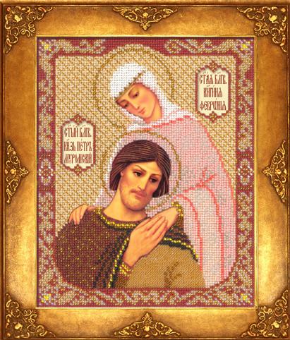 Набор для вышивки бисером Русская искусница 329 «Святые Петр и Феврония Муромские»