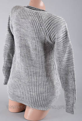 Теплый женский серый свитер, фото 2