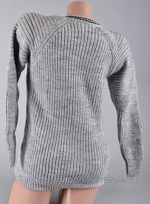 Теплый женский серый свитер, фото 3