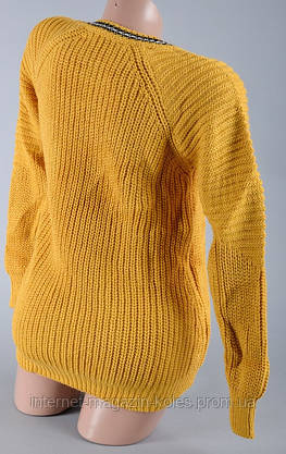 Теплый женский горчичный свитер, фото 2