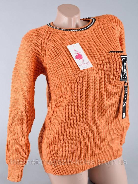 Теплый женский персиковый свитер, фото 2