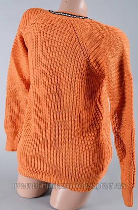 Теплый женский персиковый свитер, фото 3