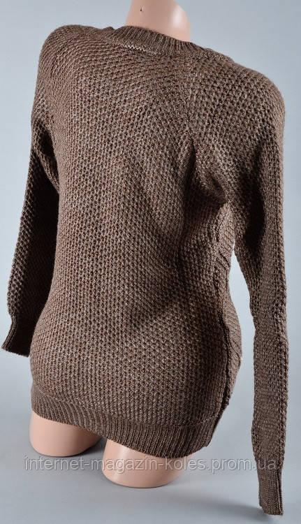 Теплый женский коричневый свитер, фото 2