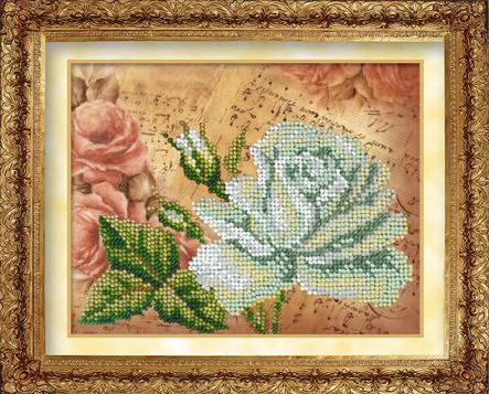 Набор для вышивки бисером Русская искусница 404 «Белая роза»