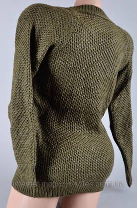Теплый женский свитер цвета хаки, фото 3