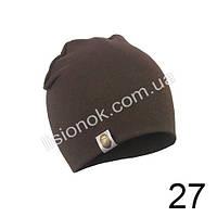Коричневая трикотажная однотонная шапка Bape для подростков и взрослых 54-62см