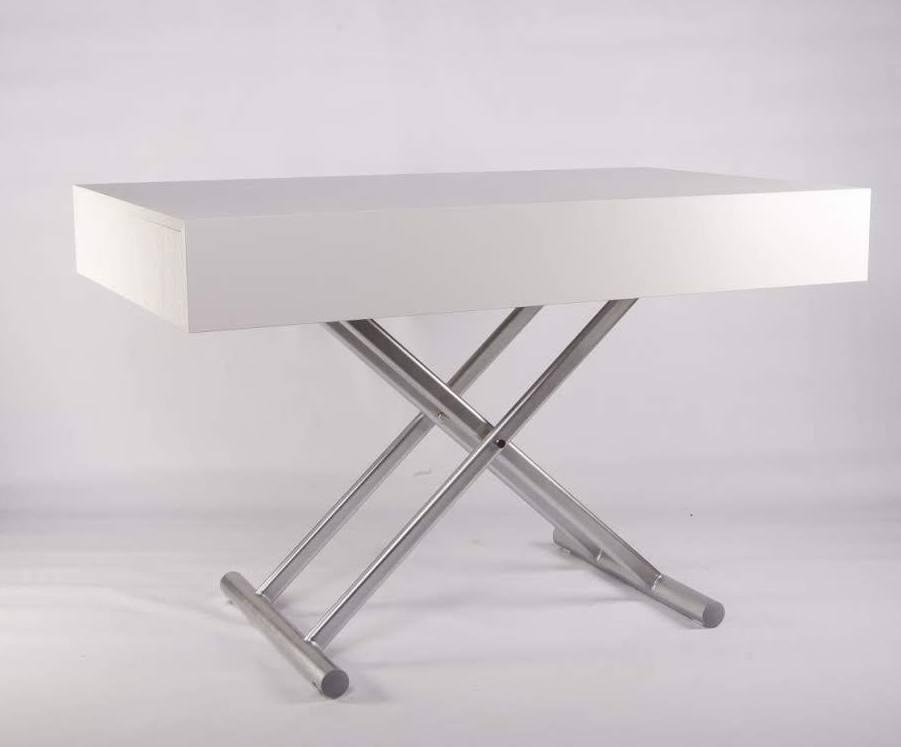 Стол-трансформер Палермо -1 B2391-1 TES Mobili  цвет столешницы белый/ножки серебро