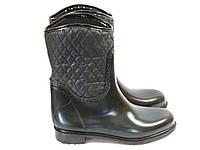 Резиновые сапоги черные с подкладкой, фото 1