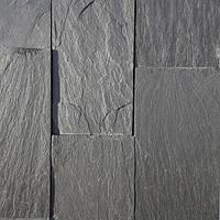 Облицовочная плитка сланец черный 5x15 см