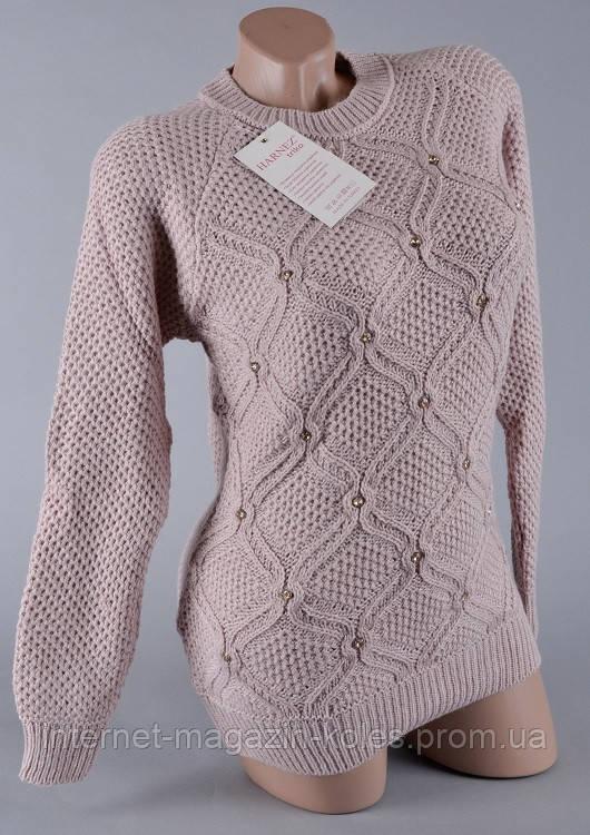 Теплый женский свитер серого цвета , фото 2
