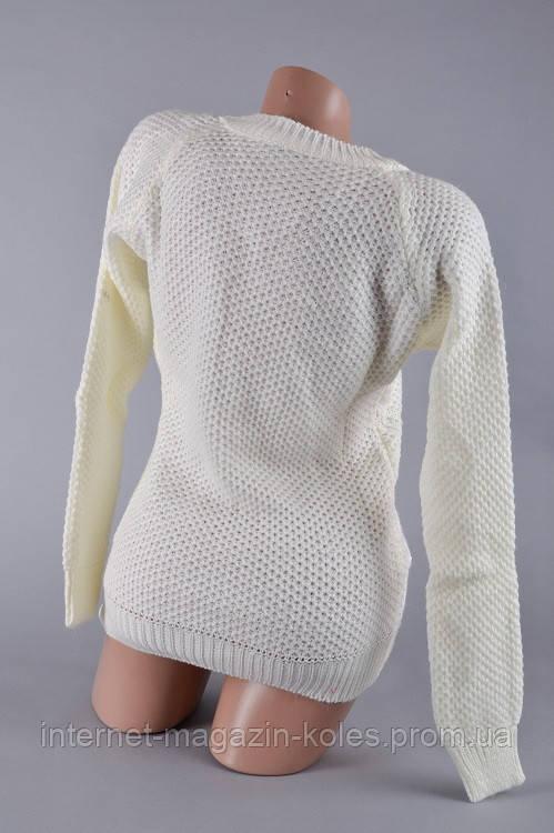 Теплый женский свитер молочного цвета , фото 2
