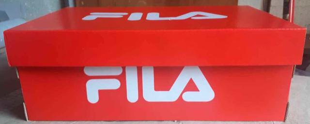 Коробка Fila лакированная красного цвета