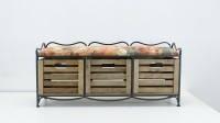 Кованый диван с тремя ящиками., фото 1