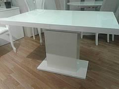Стіл обідній Болонья (В2347) Exm, стільниця мдф скло колір білий