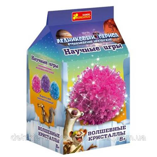 """0274 Набір для дослідів """"Чарівні кристали. Рожевий. Льодовиковий період."""" 12177006P"""