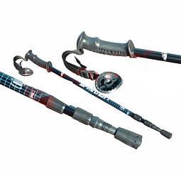Палки для скандинавской ходьбы, 110-135см. Разные цвета. черный