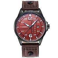 Наручные часы CURREN 8224 мужские кварцевые водонепроницаемые часы с PU кожаным ремешком Коричневый (SUN1973)