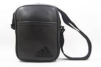 Мужская барсетка Adidas из эко-кожи, сумка через плечо, мессенджер адидас черного цвета, размер L