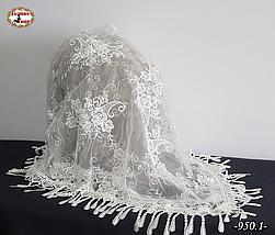 Свадебный платок Мила айвори жемчуг, фото 2