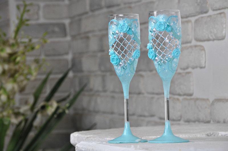 Набор свадебных бокалов для шампанского Rona Gala 200 мл х 2 шт (1515)