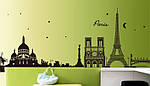 Самоклеющаяся  наклейка  на стену  Париж (190х70см), фото 2
