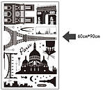 Самоклеющаяся  наклейка  на стену  Париж (190х70см), фото 4