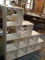 Стеллаж, перегородка для разделения помещения на разные зоны. Модель V288 белый
