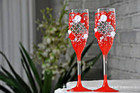 Набор свадебных бокалов для шампанского Rona Gala 200 мл х 2 шт (1508)