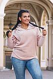 Модный женский джемпер с капюшоном  в размерах 50-52   54-56 , фото 5