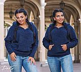 Модный женский джемпер с капюшоном  в размерах 50-52   54-56 , фото 7