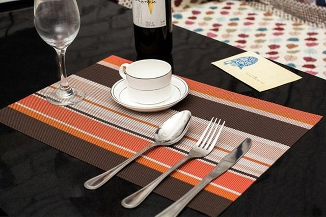 Сервірувальні килимки-підставки під тарілки на кухонний стіл, 6 шт