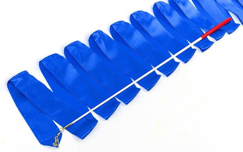 Лента для художественной гимнастики l-4м C-7152 синяя