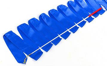 Лента для художественной гимнастики l-4м C-7152 синяя, фото 2