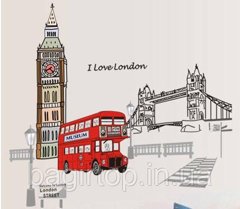 Самоклеющаяся  наклейка  на стену Лондон (140х80см)