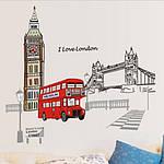 Самоклеющаяся  наклейка  на стену Лондон (140х80см), фото 2