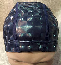Шапочка для плавания из непромокаемой ткани (верхний слой 3D эффект), фото 2