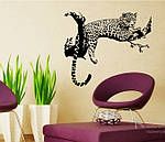 Самоклеющаяся  наклейка  на стену Леопард, фото 2