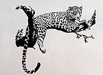 Самоклеющаяся  наклейка  на стену Леопард, фото 5