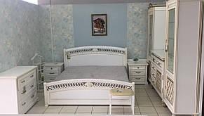 Спальня в классическом стиле Доминика , белая с серебристой патиной, фото 3