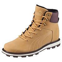 Ботинки мужские Puma Desierto Fun 361192 01 (бежевые, нубук, с мехом, осень - зима, подошва ЕВА, бренд пума)