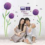 Самоклеющаяся  наклейка  на стену  Цветы (166х156см), фото 4