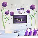 Самоклеющаяся  наклейка  на стену  Цветы (166х156см), фото 5