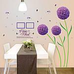 Самоклеющаяся  наклейка  на стену  Цветы (166х156см), фото 8
