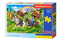 Пазлы  Принцессы на лошадях , 100 элементов