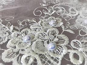 Свадебный платок Мила айвори жемчуг, фото 3