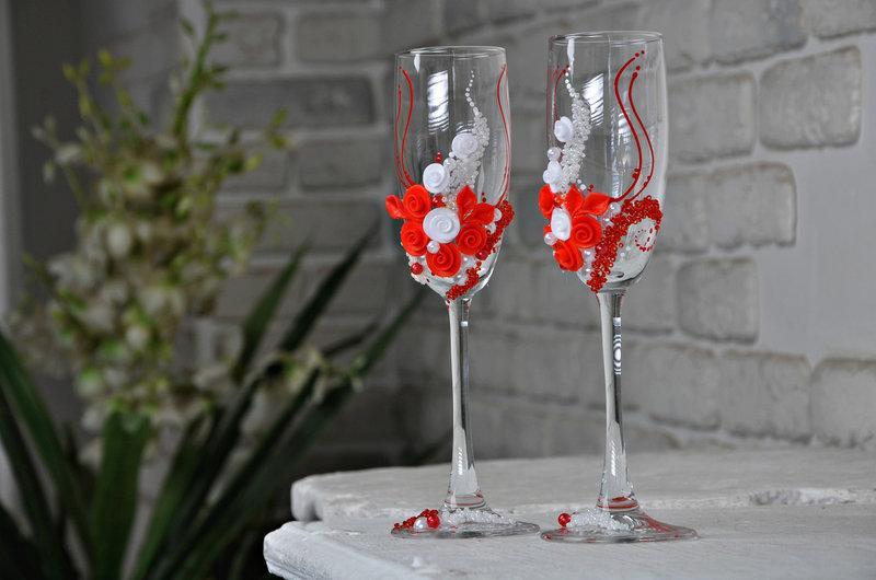Набор свадебных бокалов для шампанского Rona Gala 200 мл х 2 шт (1108)