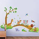 Самоклеющаяся  наклейка  на стену  Большие Джунгли (135х86см), фото 9
