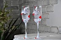 Набор свадебных бокалов для шампанского Rona Gala 200 мл х 2 шт (1401)