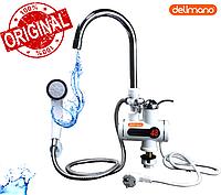 Проточный водонагреватель Делимано с LED экраном мини бойлер с душем