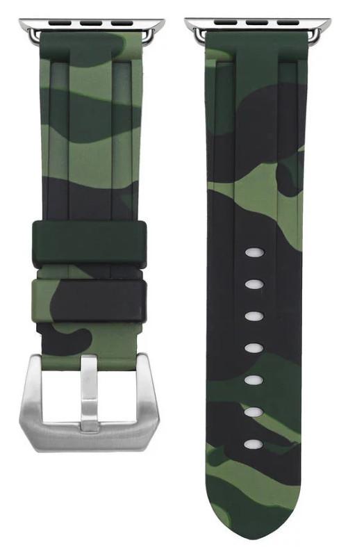 Ремешок для Apple iWatch 42 mm Camouflage Зеленый